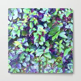 Magical, Fantasy Fairytale Forest Colorful Leaves Metal Print