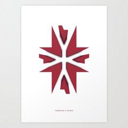 Symmetry: Templar's Cross Art Print