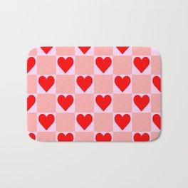 love heart pattern Bath Mat