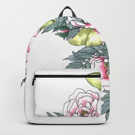 Pink Wild Roses Backpack
