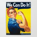 We can do it!, vintage poster, classic poster by alma_design