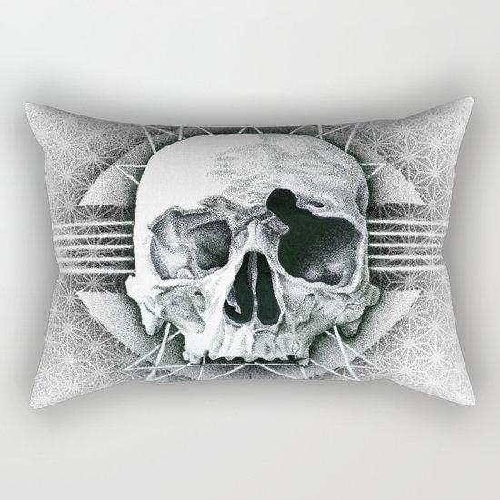 stippling skull Rectangular Pillow
