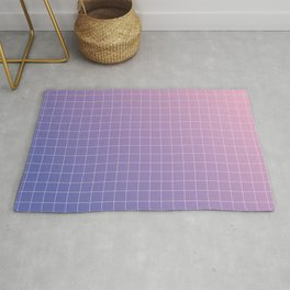 purple / pink - grid Rug