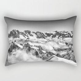View from Mont Blanc Tramway looking toward Matterhorn Rectangular Pillow