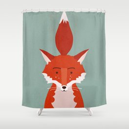 Fancy Fox Shower Curtain