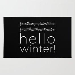 Hello winter! (black) Rug