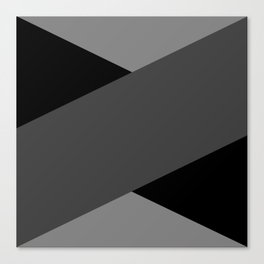 Gray Letter Day Canvas Print