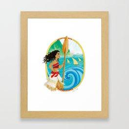 Explorer of the sea Framed Art Print