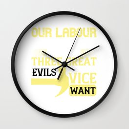 Our labour preserves us from three great evils — weariness, vice, and want Wall Clock