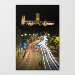 Lincoln Cathedral Trails Canvas Print