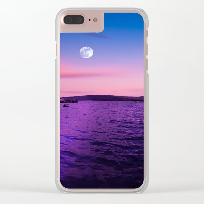 full moon over Scotland Clear iPhone Case