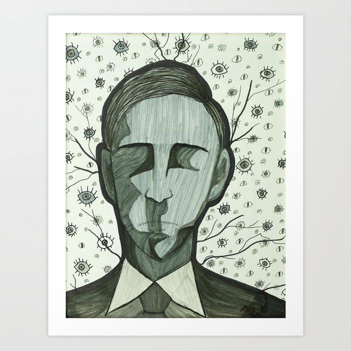 H P Lovecraft Art Print
