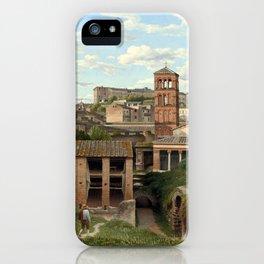 Christoffer Wilhelm Eckersberg View of the Cloaca Maxima, Rome iPhone Case