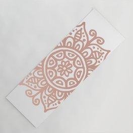 Rose Gold Floral Mandala Yoga Mat