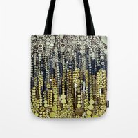 gatsby Tote Bags featuring :: Gray Gatsby :: by :: GaleStorm Artworks ::