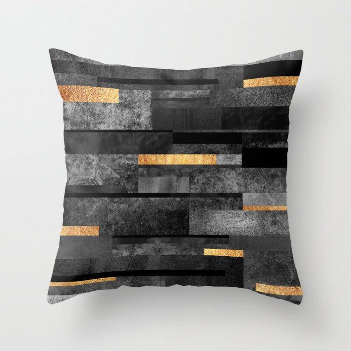 Urban Black & Gold Deko-Kissen