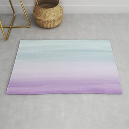Touching Mermaid Girls Watercolor Abstract #1 #painting #decor #art #society6 Rug
