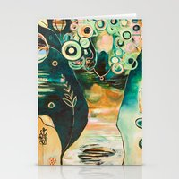 """flora bowley Stationery Cards featuring """"Thirty Six"""" Original Painting by Flora Bowley by Flora Bowley"""