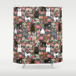 French Bulldog must have florals gifts dog breed pet lover frenchies forever Shower Curtain