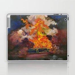 Car on fire Laptop & iPad Skin