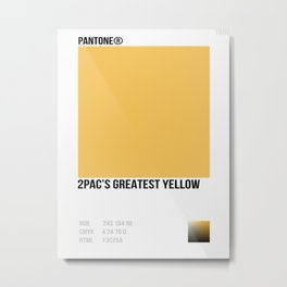 2 PAC GREATEST YELLOW Metal Print