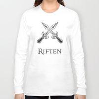 skyrim Long Sleeve T-shirts featuring Riften by Pixel Design