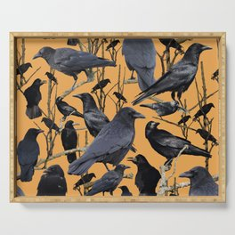 Crow | Corvidae Serving Tray