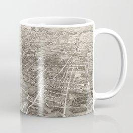 Vintage Pictorial Map of Brockton MA (1882) Coffee Mug