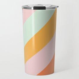 Summer Sorbet Pastel Curved Stripes Travel Mug