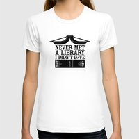 library T-shirts featuring Library Love by Sylvia Loves Design