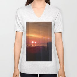 4 Suns in a Window Unisex V-Neck