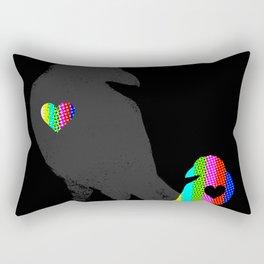 Crow's Heart Rectangular Pillow