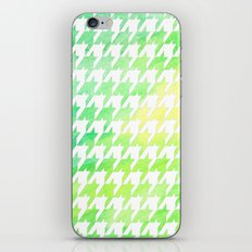 Houndstooth green watercolor iPhone & iPod Skin