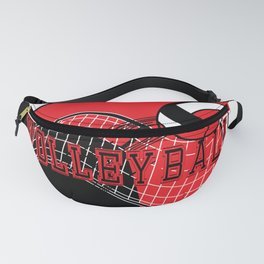 Volleyball Sport Game - Net - Red Fanny Pack