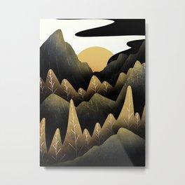 The golden land Metal Print
