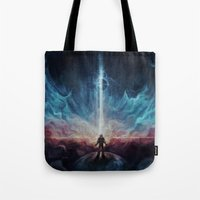interstellar Tote Bags featuring Interstellar by Jasric Art