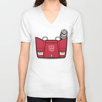 transformers V-neck T-shirts featuring Transformers - Sideswipe by CaptainLaserBeam
