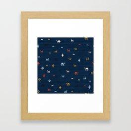 Jarmo in Blue Framed Art Print