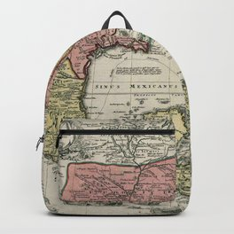 Vintage North America and Caribbean Map (1720) Backpack