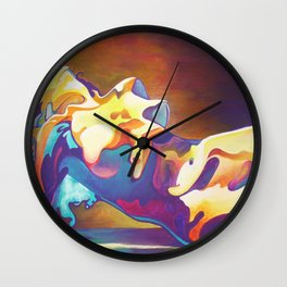 The United Colours of Orgasm Thermal Nude Wall Clock