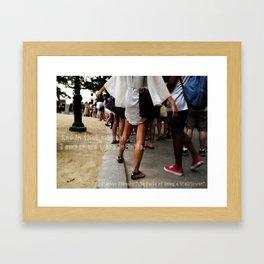 ...I swear we were infinite - The Perks of Being a Wallflower Framed Art Print