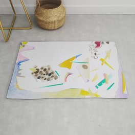 Paper Cutouts Collage  Rug