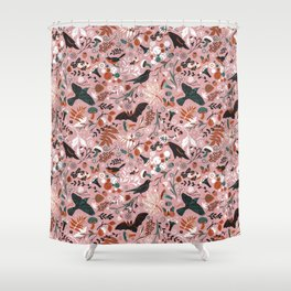 October birds Shower Curtain