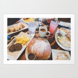 Texas Cafe Breakfast Art Print