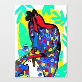 Lady and the Dog Canvas Print