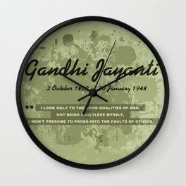Mahatma Gandhi Jayanti Wall Clock