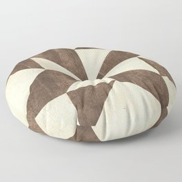 Brown and Cream Quilt Floor Pillow