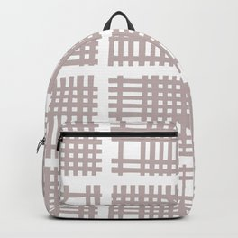Mid Century Modern Abstract Squares Beige 552 Backpack
