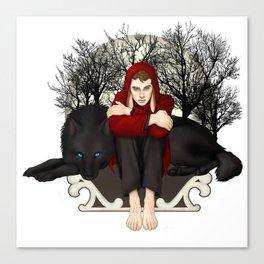 Moon Bunny Canvas Print