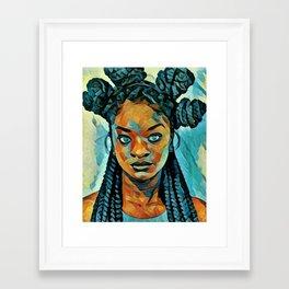 Black Blue yes Framed Art Print